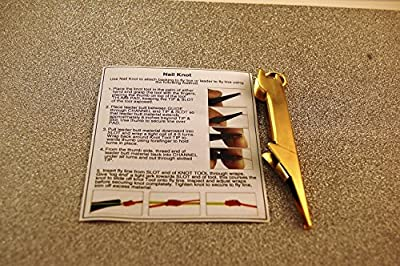 Fly Fishing Stainless Steel Nail Knot, Easy Knot Tying Tool, Gold with Instructions from Protto