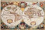 Landkarten - Antike Weltkarte - Educational Plakat,