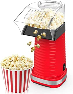 CCFFY Air Popper Popcorn Maker Electric Hot Air Popcorn Popper Maker for Home Healthy Hot Air Swirling Popcorn Popper