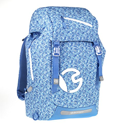 ergonomischer Schulrucksack 28l Classic Blue Flowers