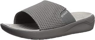 Crocs Mens Men's Literide Mesh Slide Grey Size: