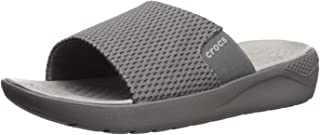 Crocs Mens Men's Literide Mesh Slide Grey Size: