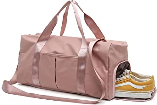 Gym Bag Dry Wet Separated, Waterproof Sport Duffle Bag with Shoes Compartment for Sport, Yoga, Travel, Fitness, Overnight ...