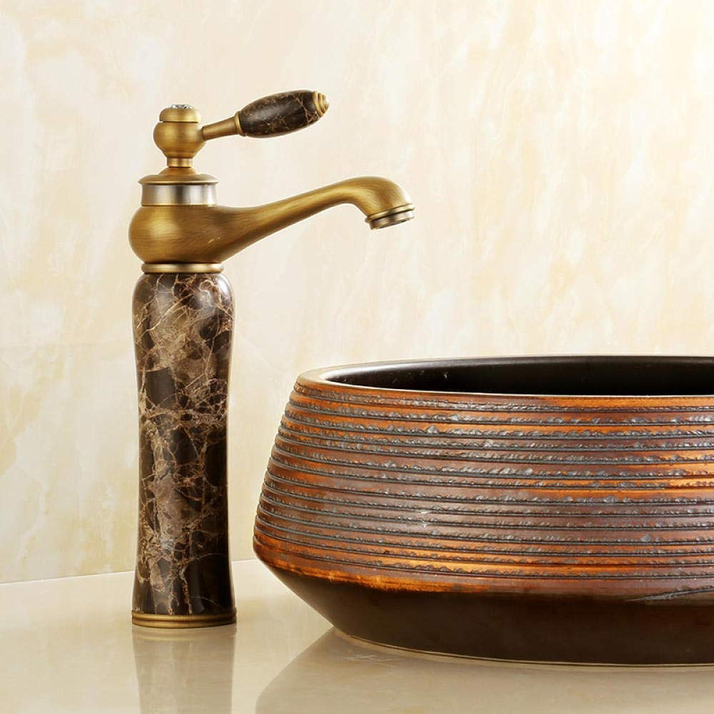CZOOR Europischen stil kupfer antiken wasserhahn waschbecken hei und kalt roséGold badezimmerschrank Gold jade wasserhahn einlochmontage c451
