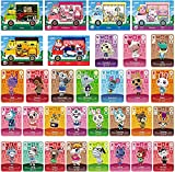 32 Pcs ACNH Compatible with Sanrio Animal Crossing New Horizons Amiibo Cards, Series 1-4 NFC Mini Game Rare Character Villager Cards Compatible with Switch/Switch Lite/Wii U/New 3DS with Case