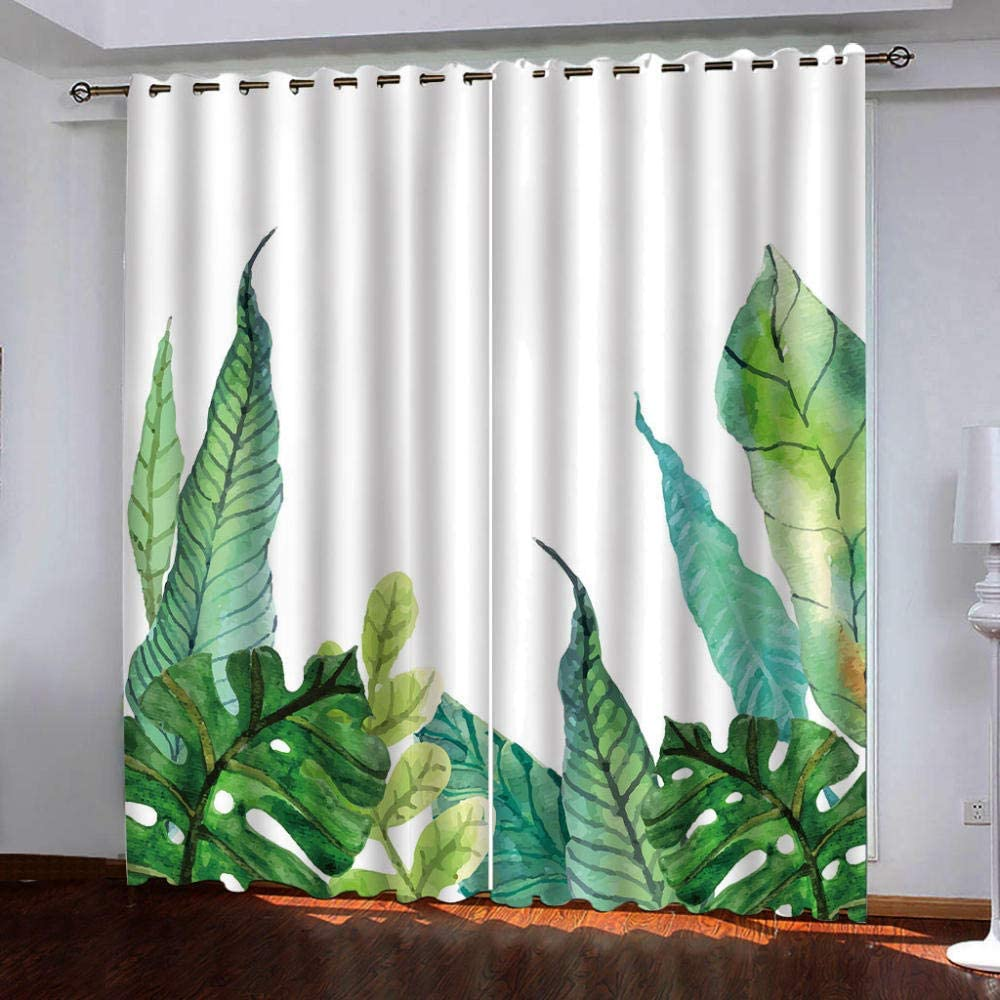Max 51% OFF Blackout Window Charlotte Mall Curtain Panels Green for Thermal Insulat Plants
