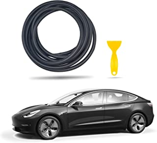 LFOTPP Tesla Model 3 Noise Reduction Seal Windshield & Roof Wind Guard Quiet Seal Kit, P50 P65 P80 P80D Wind Noise Lowering Dampening Kit Soundproof Strip, Easy Installation