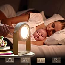 Reading Lamp Battery Operated, Cordless Lantern Lamp, Portable Bedside Table Lamp for Bedroom, Led Desk Lamp, Dimmable Night Light by Touch (Grey)