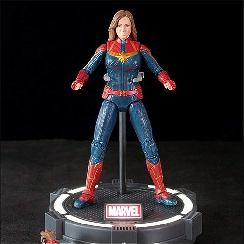 Qivor Avengers 4 Surprise Captain Bewegliches Puppenspielzeug Handbetriebenes Modell Illuminated Base Complex 3