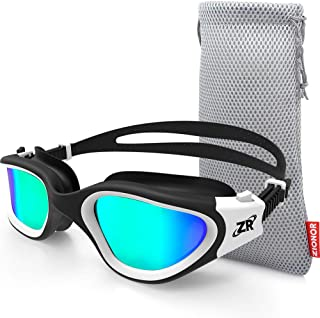 ZIONOR Swimming Goggles, G1 Polarized Swim Goggles UV Protection Watertight Anti-Fog Adjustable Strap Comfort fit for Unisex Adult Men and Women