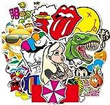 Autocollants 200 Pièces en Vinyle Imperméables Stickers pour Moto, Stickers Skate, Sticker VTT, Autocollants pour Ordinateur Portable, Bouteilles d'eau et Valise, Graffiti Tendance Stickers de Fête