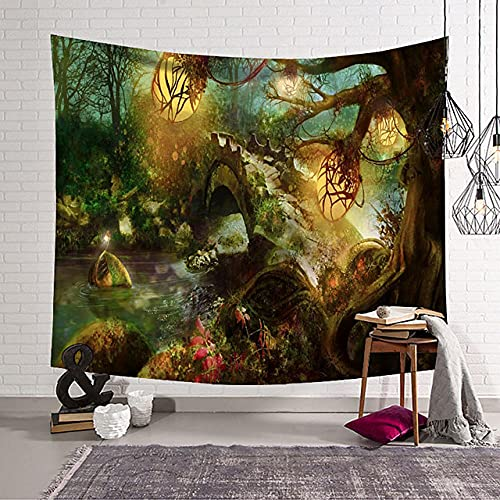 Tapiz de pared de Halloween decoración artística manta cortina colgante hogar dormitorio decoración de sala de estar H180xW300cm