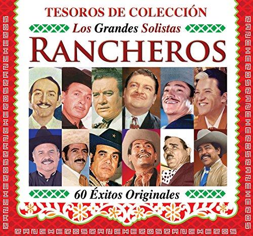 TESOROS DE COLECCION 'LOS GRANDES SOLISTAS RANCHEROS' [60 EXITOS ORIGINALES] 3 CD'S [JAVIER SOLIS,JORGE NEGRETE,ANTONIO AGUILAR,LUIS AGUILAR,JULIO ALDAMA Y MAS...]