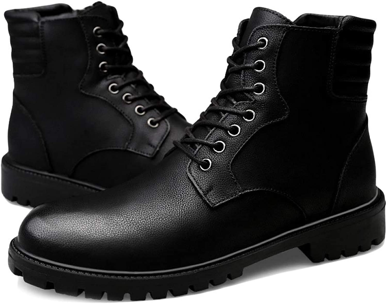 Men's Boots Leisure Martin Boots Plus Velvet Keep Warm Snow Thicken Round Head Work Boots Non-Slip High Help Desert