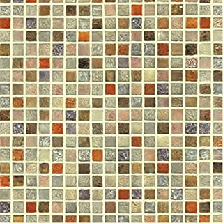 Very Berry Sticker Multi Color Tile Mosaic Pattern Interior Film Self-Adhesive Peel-Stick Vinyl Wallpaper Bathroom Waterproof Kitchen
