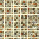 Papel de contacto multicolor con patrón de mosaico, autoadhesivo, vinilo, papel pintado impermeable para baño, cocina, etc.