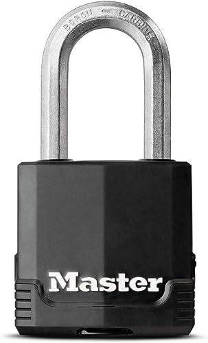 MASTER LOCK Cadenas Haute Sécurité [A Clé] [Acier Laminé Recouvert] [Extérieur - Anti-rouille] [Anse M] M115EURDLF - ...