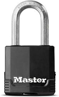 Master Lock Heavy Duty Padlock [Key] [Covered Laminated Steel] [Weatherproof and Rustproof] [Medium Shackle] M115EURDLF - ...