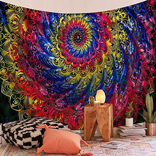 WERT Mandala patrón Tapiz Indio Colgante de Pared decoración Elefante Toalla de Playa Bohemia Manta Fina Estera de Yoga A9 95x73cm