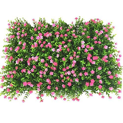 Künstlich Pflanzenwand Hecke Hängepflanzen Sichtschutzhecke Efeu Rebe Wand UV-Schutz Künstliche Hecke Blätter Hintergrund Wanddeko für Haus Zimmer Garten Hochzeit-40cmx60cm