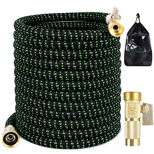 Garden Hose 50 FT Light Weight Expandable Flexible Hose Magic Water Hose Retractable Compact Hose Shrinking Hose No-Kink Yard Hose with 3/5'' Fittings & Triple Latex Core for Car Wash,Watering