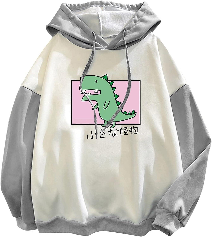 nunonette Cute Sweaters for Women?Womens Dinosaur Printed Pullover Hoodies Casual Long Sleeve Plus Size Sweatshirt Top