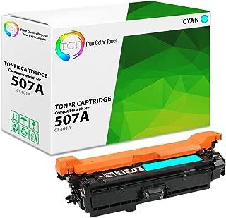 TCT Premium Compatible Toner Cartridge Replacement for HP 507A CE401A Cyan Works with HP Laserjet Enterprise M551 M575, Pro M570 M570DW Printers (6,000 Pages)