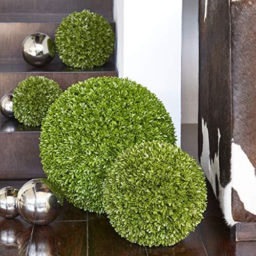Hochwertige & Künstliche Buchsbaumkugel - Große Buchskugel: Ø 45cm - Naturgetreu & Wetterfest - Dichtes Blattwerk & Natürliche Farben - Premium/Deluxe Kunstpflanze (Indoor & Outdoor)
