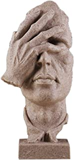 Creative Abstract Decor The Thinker Statue Face & Hand Statues and Sculptures Office Desk Decor Keep Silence Figurine (No See Sand)