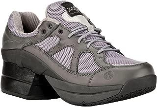 Z-CoiL Pain Relief Footwear Men's Liberty Slip Resistant Enclosed Coil Gray Leather Tennis Shoe