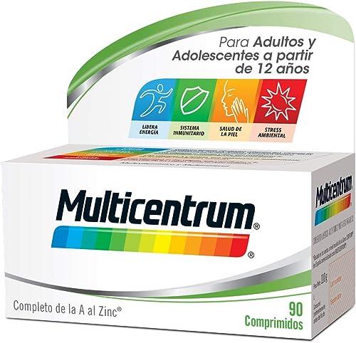 Multicentrum Complemento Alimenticio Multivitaminas con 13 Vitaminas y 11 Minerales, Sin Gluten, para Adultos y Adole...