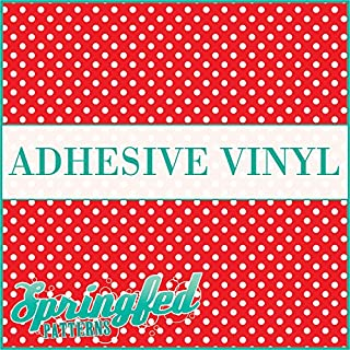 POLKA DOT PATTERN #1 Red & White Craft Vinyl 3 sheets 6x6 Polka Dots for Vinyl Cutters