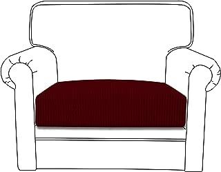 Easy-Going Stretch Cushion Cover Sofa Cushion Furniture Protector Sofa Seat Sofa slipcover Sofa Cover Soft Flexibility with Elastic Bottom(Chair Cushion,Wine)