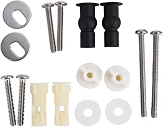 Cosybreeze Universal Toilet Seats Screws and Bolts Metal - Toilet Seat Hinges Bolt Screws - Fixings Expanding Rubber Top Cover Lip Nut Mount Screw Replacement Parts Kit