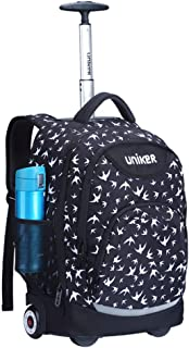Rolling Backpack Luggage - for Kids and Students School Travel Book Laptop Wheeled Backpack 18 Inch (Color : E, Size : 31x18x46cm)