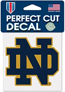 WinCraft NCAA Notre Dame Fighting Irish 4x4 Perfect Cut Color Decal, Team Colors, One Size