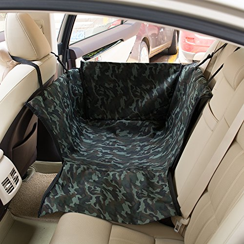 FREESOO Car Hammock Pet Dog Cat Seat Covers Waterproof Travel Single Auto Rear Seat Protector Cover Mat Pad Camo