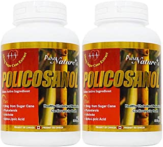 PNC Two Bottles of Policosanol Cuban Active Ingredient Healthy Cholesterol Metabolism and Support Cardiovascular Health Al...