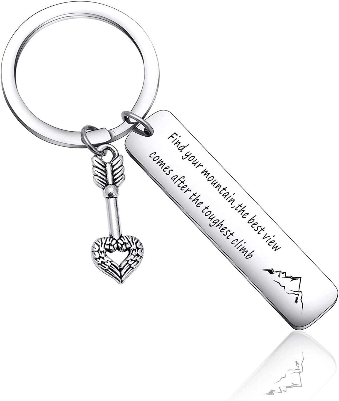 Inspiration keychain SMALL Keychain confidence Hand-stamped Keychain