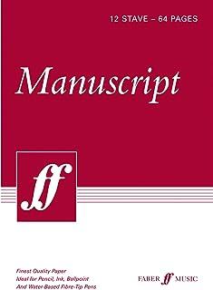 Manuscript Paper -- 12 Stave Full Size (8.5): White Paper