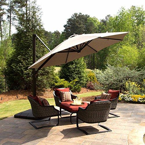 Seasons Sentry 11' LED Solar Round Offset Umbrella by