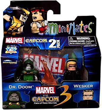 Marvel vs Capcom 3 Minimates Series 3 Dr. Doom Vs. Albert Wesker Minifigure 2-Pack
