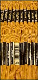 DMC Bulk Buy Thread 6-Strand Embroidery Cotton 8.7 Yards Medium Topaz 117-783 (12-Pack)