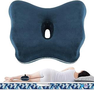 Almohada para Piernas Rodillas, Cojín Ergonomico para Dormir de Lado, Cojin para Rodillas lmohada Ortopédica para Pierna y Rodilla, Espuma con Memoria, Alivia el Dolor de Espalda