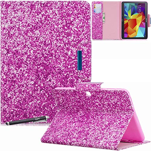 Galaxy Tab 4 10.1 Case, SM-T530 Case - Newshine Colorful Magnetic Closure Stand Folding Protective Cover Auto Wake/Sleep for Samsung Galaxy Tab 4 10.1 Inch 2014 Tablet - Bright Purple