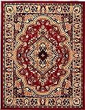 Alfombra MISLD WE LOVE RUGS – Roja – Oriental persa tradicional alfombra duradera para salón, comedor, dormitorio, pelo corto, fácil de limpiar, 200 x 300 cm, grande
