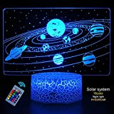 HYODREAM Solar System 3D Optical Illusion Lamp Universe Space Galaxy Night...