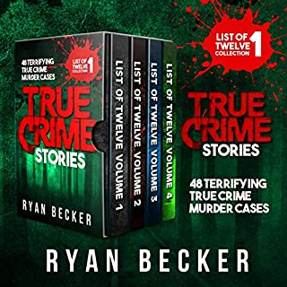 True Crime Stories Boxset: 48 Terrifying True Crime Murder Cases audiobook cover art