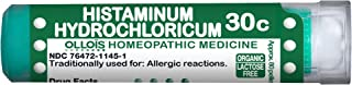 Ollois Organic & Lactose-Free, Histaminum Hydrochloricum 30c, Homeopathic Medicine, Pellets for Allergic Reactions, 80 Count.