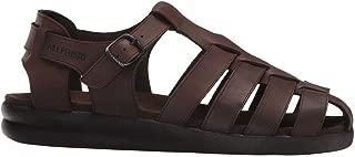 SAM OLDBRUSH Dark Brown Leather Sandal for Men 45(EUR) 11(US)